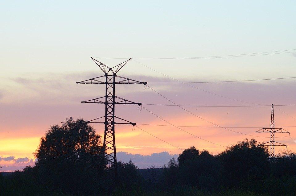Вышка, Провода, Электричество, Силуэт, Небо, Закат